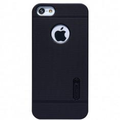 HUSA NILLKIN FROSTED SHIELD IPHONE 5 5S BONUS FOLIE ECRAN - Husa Telefon Nillkin, iPhone 5/5S/SE, Negru, Plastic