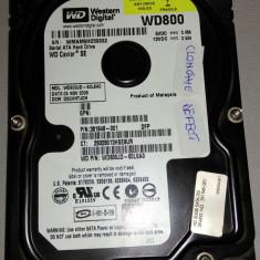 Hard Disk defect Westen Digital WD800JD-60LSA0 80 GB SATA, 40-99 GB, 7200, Western Digital