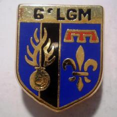 I.656 INSIGNA FRANTA POLITIE ESCADRON 6 LGM LEGION GENDARMERIE MOBILE 24/19mm
