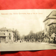 Ilustrata clasica Baile Govora - Posta si Vila Dr Taranu -Ed. A.Maier si D.Stern, Necirculata, Printata