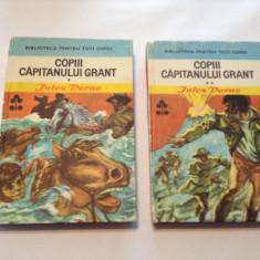 Jules Vernes COPII CAPITANULUI GRANT{2 VOLUME, CARTONATE}, RF1/1 - Carte poezie copii
