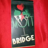 CARNET de BRIDGE, MOTT INTRECE TOT, vechi, interbelic, MOTT MONOPOL, scoring - Carte veche