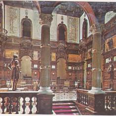 Bnk cp Sinaia - Muzeul Peles - Holul de onoare - uzata, Circulata, Printata