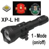 Lanterna de vanatoare cu focalizare reglabila cu Led CREE XP-L HI - 1 Mod -Set