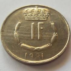 Moneda 1 Franc - Luxemburg 1981 *cod 2297, Europa