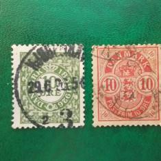 Danemarca numerale, vechi, stampilate