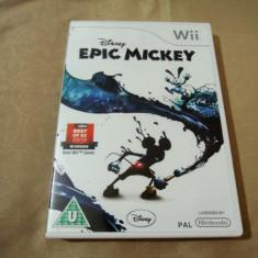 Joc Disney Epic Mickey, pentru Wii, original, PAL - Jocuri WII Altele, Actiune, 3+, Single player