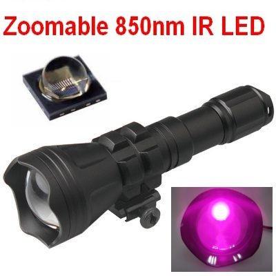 Lanterna INFRAROSU cu focalizare reglabila cu Led OSRAM IR 850nm -1Mod foto