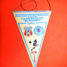 FANION STEAUA Cupa Campionilor Europeni Turul III 1988 - Fanion fotbal