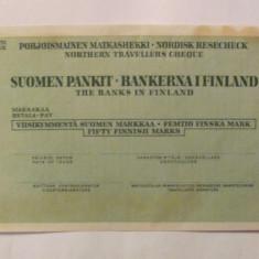 CY - CEC vechi de calatorie 50 markkaa mark FINLANDA