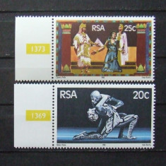 R.S.AFRICA 1981 - TEATRU, OPERA, 2 VALORI NEOBLITERATE - AS 064, An: 1984, Natura