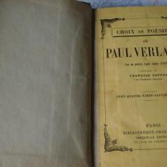 Choix de Poesies de Paul Verlaine -  in franceza - interbelica