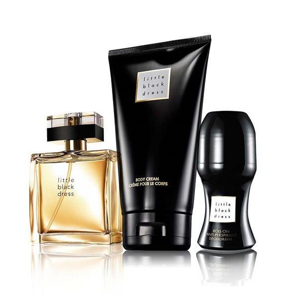 Set Little Black Dress AVON (apa parfum 50ml, crema de corp, deo roll)