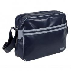 Geanta Zbor in Dungi Originala Lonsdale 2 Stripe Flight Bag Navy PROMOTIE - Geanta Barbati, Marime: Masura unica, Culoare: Bleumarin