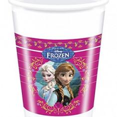 Set 8 pahare de plastic Frozen design