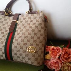 Promotie Geanta eleganta Gucci - Geanta Dama Gucci, Culoare: Cappuccino, Marime: Medie, Geanta umar un maner