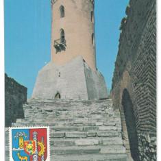 7012 Romania (103) Dambovita TARGOVISTE Turnul Chindiei - postcard - unused 1976 - Carte Postala Muntenia dupa 1918, Necirculata, Printata