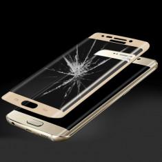 Folie protectie Sticla color Gold / Black / Silver Samsung Galaxy S6 edge + Plus - Folie de protectie