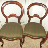 Set de 2 superbe scaune Rococo antice perioada anilor 1900