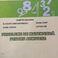 PROBLEME DE MATEMATICA PENTRU ADMITERE. UNIVERSITATEA MARITIMA - Dumitru Deleanu - Teste admitere facultate