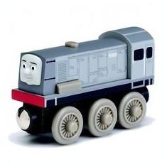 Locomotiva Dennis, colectia Thomas si prietenii sai, Fisher Price - Trenulet Fisher Price, 4-6 ani, Lemn, Baiat
