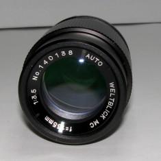 Obiectiv Auto Weltblick MC 1:3.5 135mm montura M42 pentru piese sau reparat(67) - Obiective RF (RangeFinder)