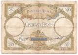 FRANTA 50 FRANCS FRANCI MERSON 31-5-1934 U