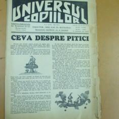 Universul copiilor 7 iulie 1937 pitici Azorel Haplea N. Batzaria Inelul pierdut - Ziar