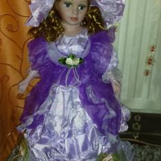 Papusa portelan-Giselle-superba!!