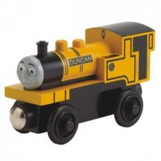 Locomotiva Duncan, colectia Thomas si prietenii sai, Fisher Price - Trenulet Fisher Price, 4-6 ani, Lemn, Baiat