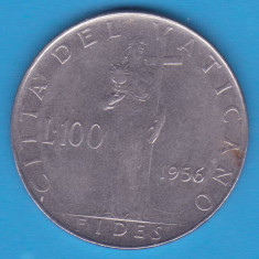 (M504) MONEDA VATICAN - 100 LIRE 1956, Europa