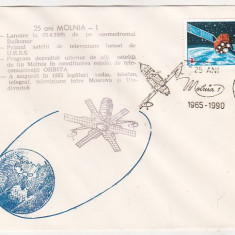 Bnk fil Plic ocazional 25 ani Molnia-1 - Botosani 1990, Romania de la 1950, Spatiu