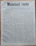 Ziarul Meseriasul Roman , nr. 17 , 1887 , Brasov