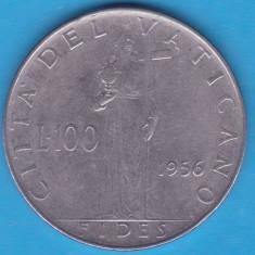 (M519) MONEDA VATICAN - 100 LIRE 1956, Europa