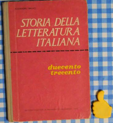 Storia della Letteratura Italiana Alexandru Balaci foto
