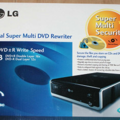 Unitate optica externa DVD Rewriter LG noua