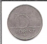 No(5) moneda-UNGARIA-10 Forint 1994, Europa