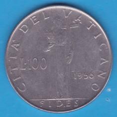 (M521) MONEDA VATICAN - 100 LIRE 1956, Europa