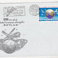 Bnk fil Plic ocazional Botosani 1993 - 20 ani debut program Skylab B, Romania de la 1950, Spatiu