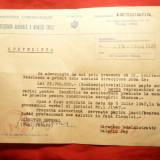 Adeverinta emisa de Directia Aviatie Civila -lucrari la Aeroport Baneasa 1948