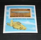 COASTA DE FILDES 1977 - DIRIJABILE , colita stampilata AB164, Stampilat