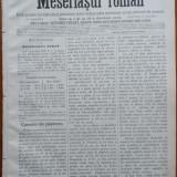 Ziarul Meseriasul Roman, nr. 13, 1887, Brasov