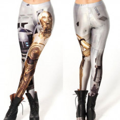 Colanti pantaloni print star wars starwars r2-d2 - Colanti dama, Marime: Marime universala, Culoare: Din imagine, Normali