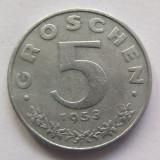Moneda 5 Groschen - AUSTRIA, anul 1953 *cod 2329 Zinc!, Europa