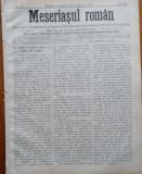 Ziarul Meseriasul Roman , nr. 15 , 1887 , Brasov