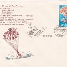 Bnk fil Plic ocazional Botosani 1990 - 20 ani Apollo-13, Romania de la 1950, Spatiu