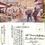 Bucuresti- Piata Mare- animata - Carte Postala Muntenia 1904-1918, Circulata, Printata
