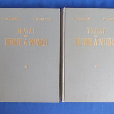 V. GIULEANU / V. IUSCEANU - TRATAT DE TEORIE A MUZICII * 2 VOL - 1963 - 2645 EX. - Carte Arta muzicala