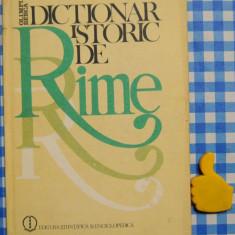 Dictionar istoric de rime Olimpia Berca
