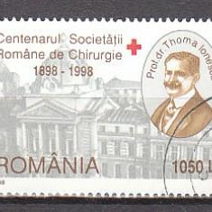 Romania.1998.Centenarul Societatii Romane de Chirurgie RO98.1453 - Timbre Romania, Stampilat